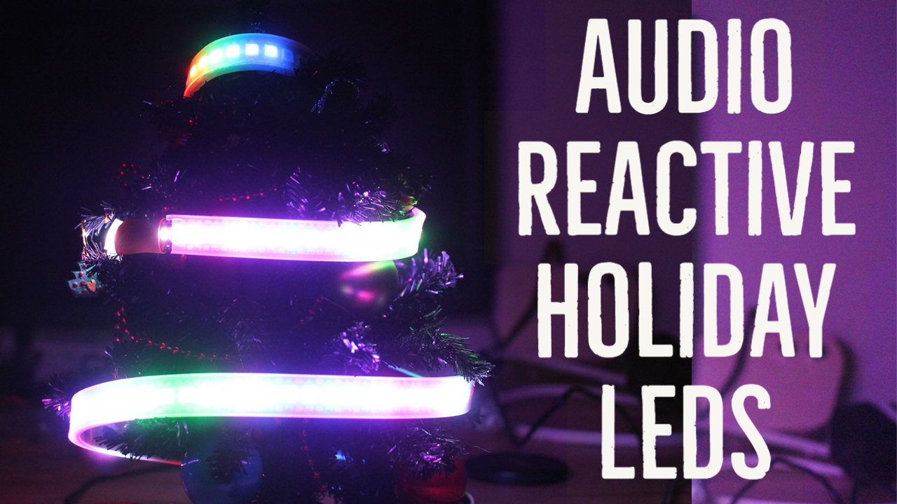 Audio Reactive Holiday LEDs with Raspberry Pi